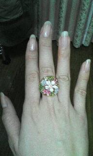 可愛い指輪をもらいました!